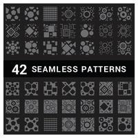 Set mit 42 geometrischen nahtlosen Mustern