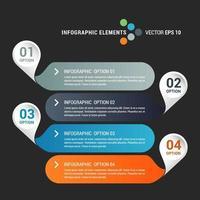 Infografik mit abgerundeten Rechtecken mit Zahlen vektor