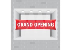 Grand Opening Showcase Vector