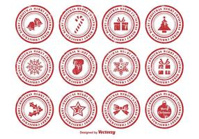 Bekymrade julrubriker vektor