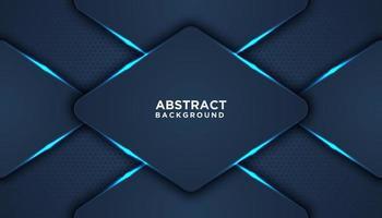 blå glödande överlappande diamanter bakgrund vektor