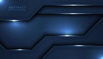 metalliska mörkblå glänsande överlappande lager vektor