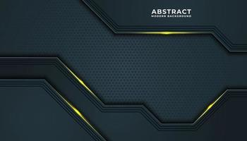 goldener und blauer Netztextureffekthintergrund vektor