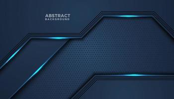 blau glänzender überlappender Schichthintergrund vektor