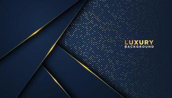 Dunkelblau mit Goldakzenten Luxus 3d Hintergrund vektor