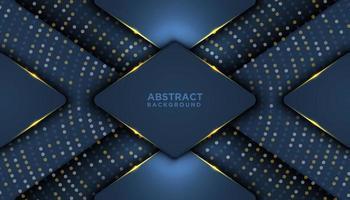 überlappende geometrische 3d formt Luxushintergrund vektor