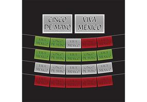 Cinco de Mayo Banners Dekoration vektor