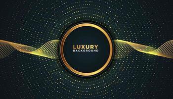dunkler Luxushintergrund mit radialen Goldpunkten vektor