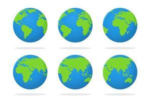 jorden Ikonuppsättning vektor