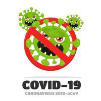 undvika coronavirus vektor