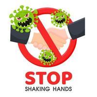 Hör auf, dir die Hände zu schütteln vektor