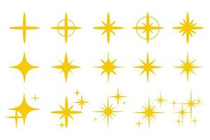 goldgelbes Licht funkelt vektor