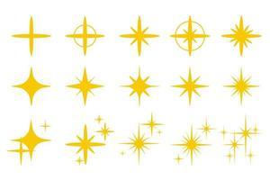 guldgult ljus glittrande vektor