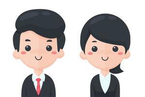 Studenten oder Geschäftsleute eingestellt vektor