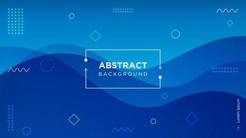 moderner blauer abstrakter gewellter Hintergrund vektor