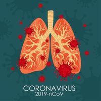 covid-19 in der Lunge