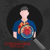 covid-19 in der Lunge des Menschen
