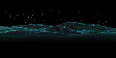 abstrakt futuristiskt modernt wireframe-landskap