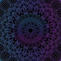 lila och blå mandala linje design
