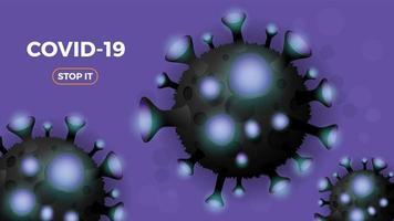 Coronavirus oder Covid-19-Hintergrund.