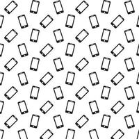 smartphone ikon mönster vektor