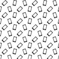 Smartphone-Symbol Muster vektor