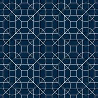 vitt och blått geometriskt cirkelmönster