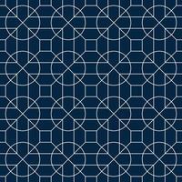 geometrisches Kreismuster weiß und blau