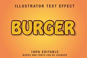 bearbeitbarer Texteffekt in gelb und braun vektor