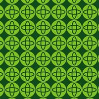 hellgrünes Retro rundes Formmuster