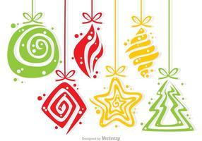 Weihnachten Swirl Dekoration Vector Pack