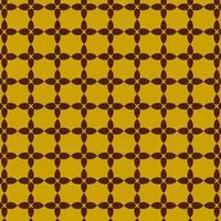 brunt och gult retro geometriskt formmönster vektor