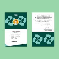 Cyan abstrakte Windrad Form ID-Karte Design-Vorlage