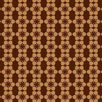 brun abstrakt cirkel och stjärna sömlösa retro mönster vektor