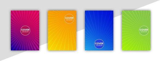 buntes Cover-Set mit Farbverlauf und geometrischen Linien