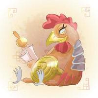 tupp kinesiska zodiaken djur tecknad