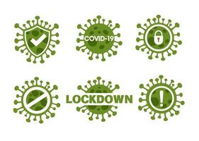 neuartiges Corona-Virus oder Covid-19-Icon-Set vektor