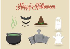 Set von freien Vektor Halloween-Elemente