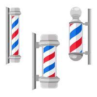 vintage barber shop pole set vektor
