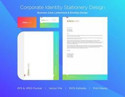Corporate Identity mit Farbverlauf und Dreiecksakzent
