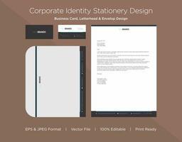 dicke graue und dünne Cyan Grenze Corporate Identity Set vektor