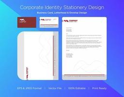 kastanienbraune abstrakte Spiralform Corporate Identity Set vektor