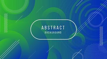 Kreis- und Liniendesign auf blauem und grünem Farbverlauf