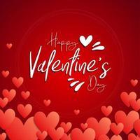 '' glücklicher Valentinstag '' Kreis mit Herzen vektor