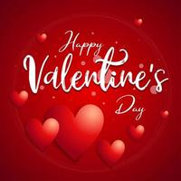 """Happy Valentinstag"" Kreis Typografie Poster"