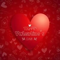 """""""Happy Valentinstag"""" Typografie auf Valentinstagssymbolen"""