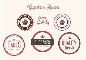 Free Vector Bäckerei Abzeichen und Etiketten