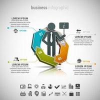 Geschäftsinfografik Sechseck mit Person