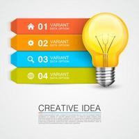 bunte Glühbirne Geschäft Infografik