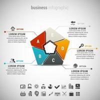 fünfeckige Business-Infografik vektor